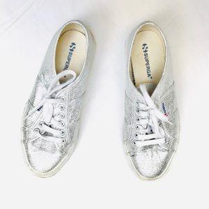 Superga Silver Metallic Sneaker